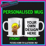 WEE MAN CARTOON 80'S RETRO MUG